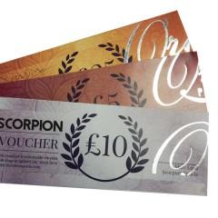Scorpion Gift Vouchers